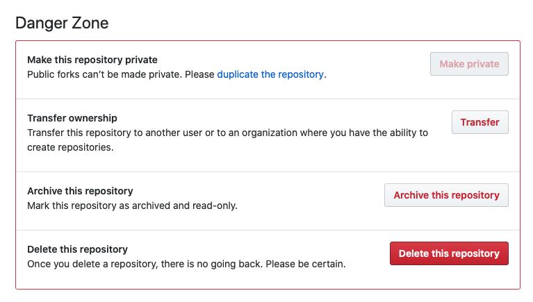 Delete GitHub repository