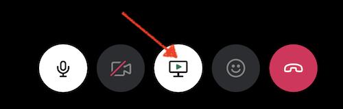 Share screen in Slack