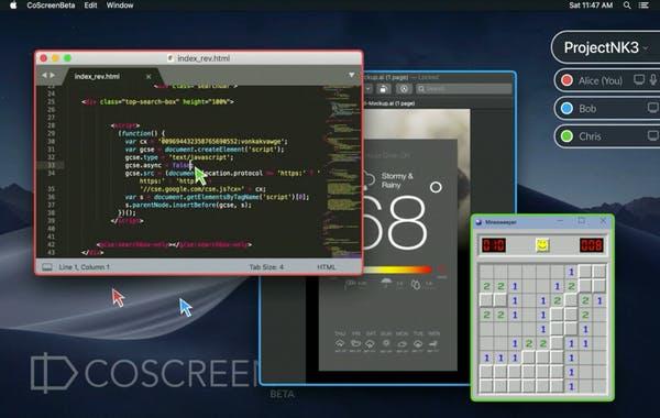 CoScreen remote collaboration