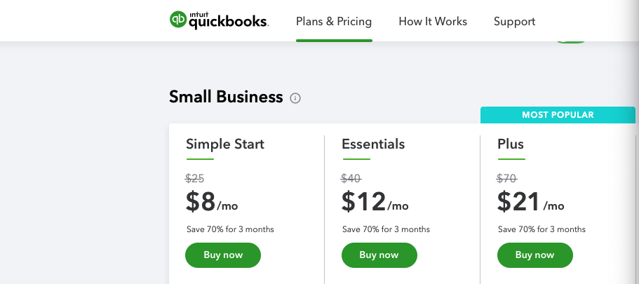 QuickBooks limited time discount