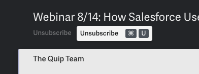Unsubscribe from emails in Superhuman